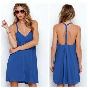 LULUS Cobalt Blue Dress T-back Sleeveless Dress
